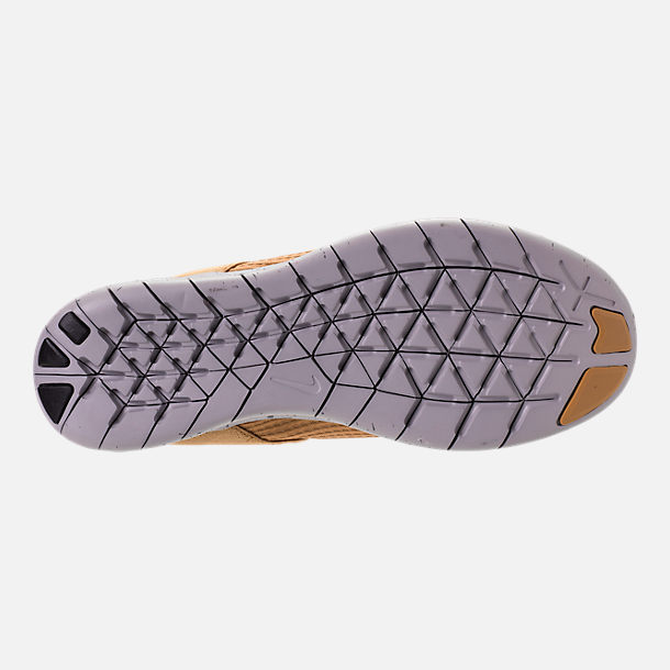 Bottom view of Women's Nike Free RN Commuter 2017 Utility Running Shoes in Elemental Gold/Burnt Mango/Black