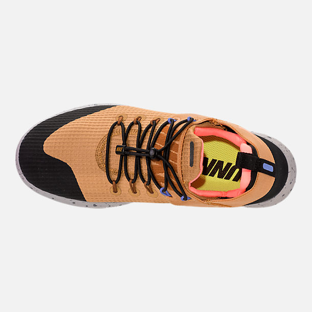 Top view of Women's Nike Free RN Commuter 2017 Utility Running Shoes in Elemental Gold/Burnt Mango/Black