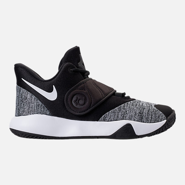 Right view of Boys' Grade School Nike KD Trey 5 VI Basketball Shoes in Black/White/Black