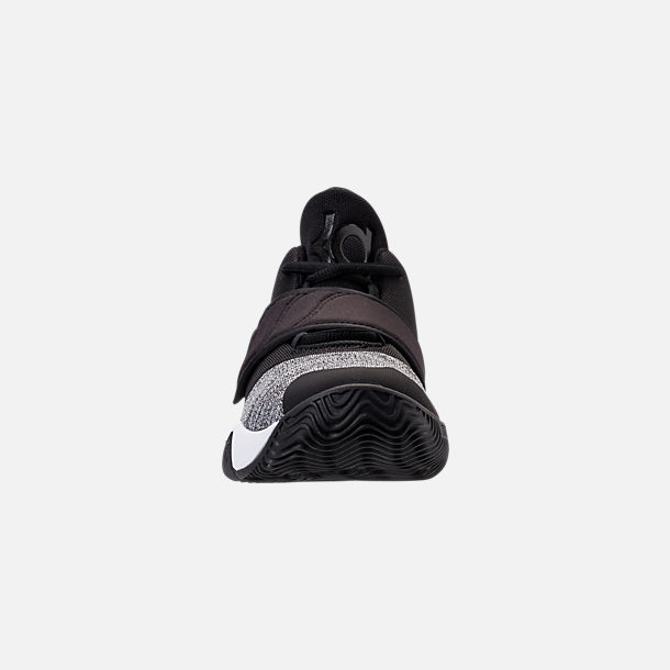 Front view of Boys' Big Kids' Nike KD Trey 5 VI Basketball Shoes in Black/White/Black