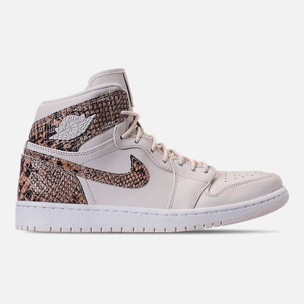 Right view of Women s Air Jordan 1 Retro High Premium Casual Shoes in  Phantom White fa176d691