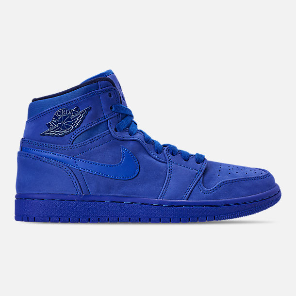 c41eba1a1a2700 Right view of Women s Air Jordan 1 Retro High Premium Casual Shoes in Blue  Void