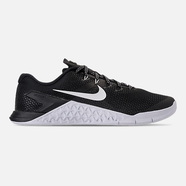 Right view of Men's Nike Metcon 4 Training Shoes in Black/White