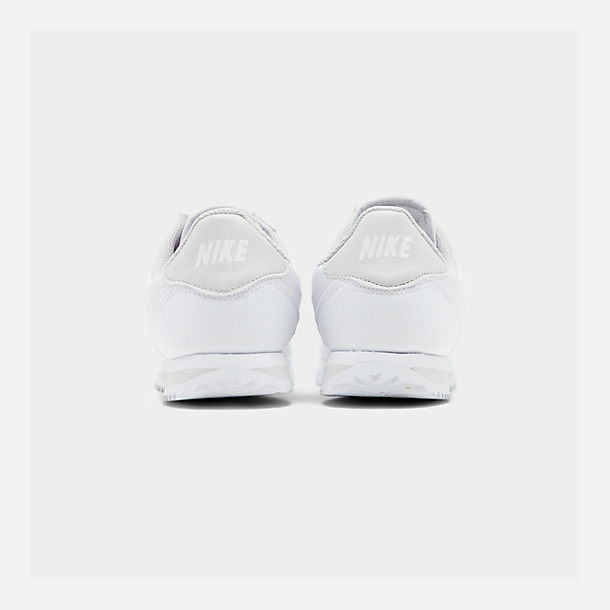 Left view of Girls' Big Kids' Nike Cortez Basic SL Casual Shoes in White/Vast Grey