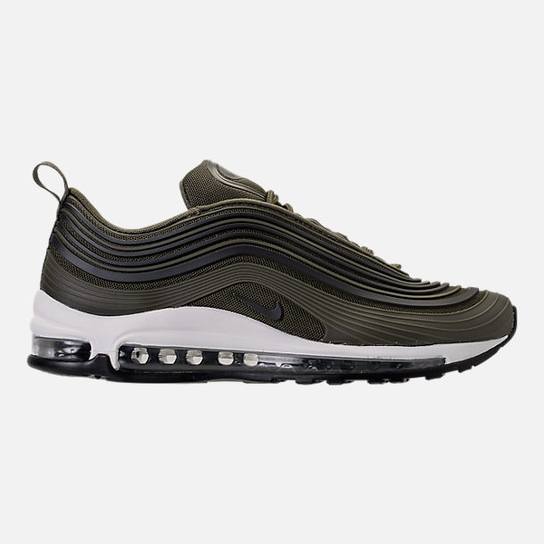 Right view of Men's Nike Air Max 97 Ultra 2017 Premium Casual Shoes in Cargo Kahki/Black/Summit White