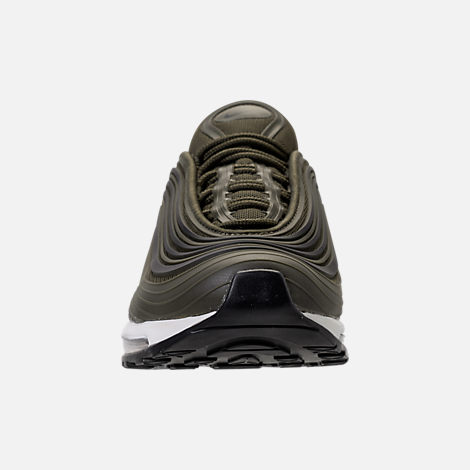 Front view of Men's Nike Air Max 97 Ultra 2017 Premium Casual Shoes in Cargo Kahki/Black/Summit White