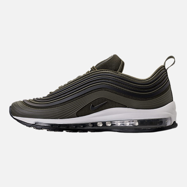 Left view of Men's Nike Air Max 97 Ultra 2017 Premium Casual Shoes in Cargo Kahki/Black/Summit White