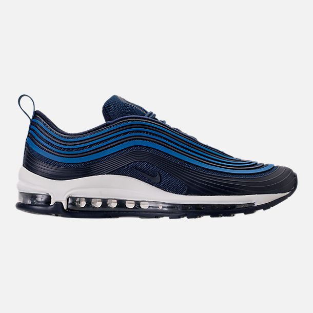 Right view of Men's Nike Air Max 97 Ultra 2017 Premium Casual Shoes in Navy/Obsidian/Sail