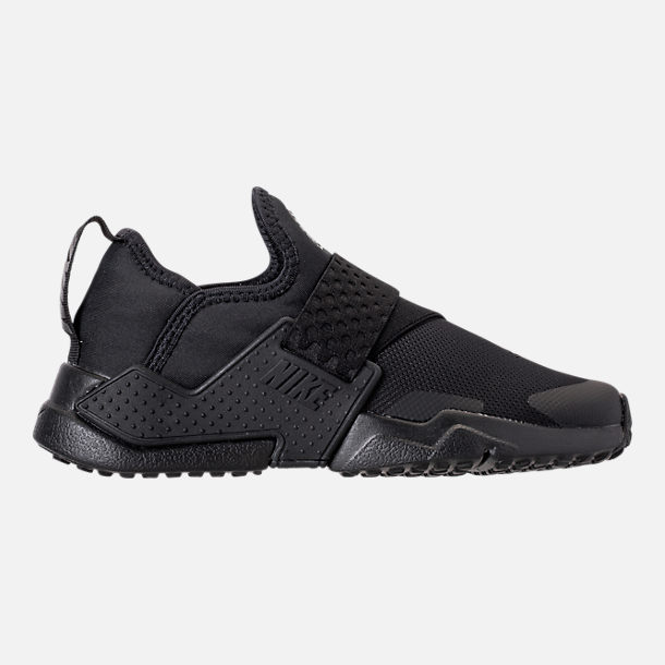 Right view of Boys' Little Kids' Nike Huarache Extreme Casual Shoes in Black/Black/Black