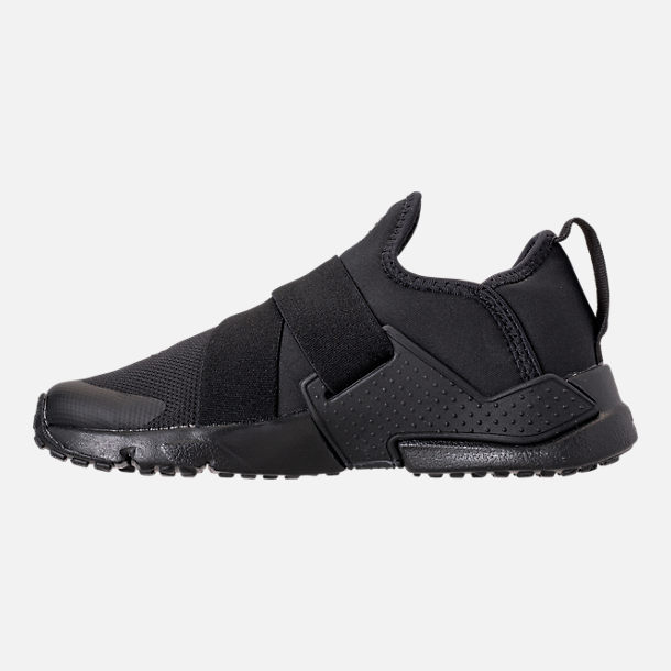 Left view of Boys' Little Kids' Nike Huarache Extreme Casual Shoes in Black/Black/Black