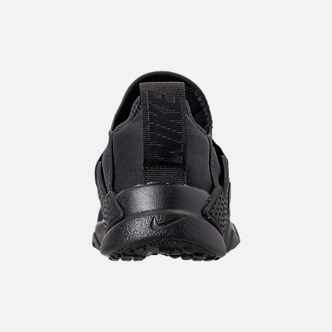 Back view of Boys' Little Kids' Nike Huarache Extreme Casual Shoes in Black/Black/Black