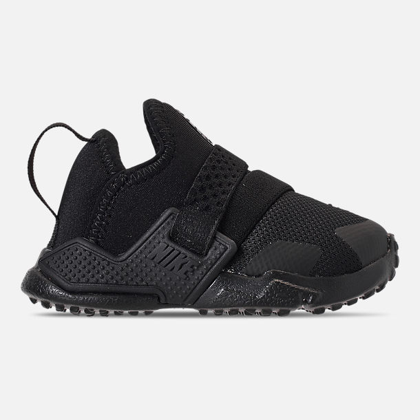 Right view of Kids' Toddler Nike Huarache Extreme Running Shoes in Black/Black/Black