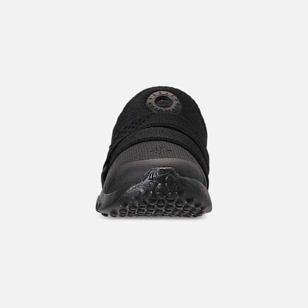 Front view of Kids' Toddler Nike Huarache Extreme Casual Shoes in Black/Black/Black