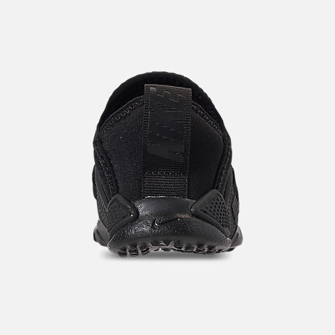Back view of Kids' Toddler Nike Huarache Extreme Running Shoes in Black/Black/Black
