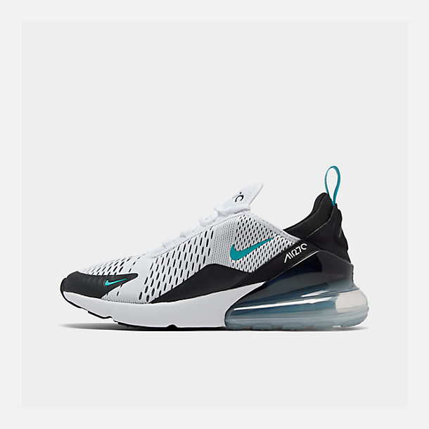 Right view of Men's Nike Air Max 270 Casual Shoes in Black/White/Dusty Cactus