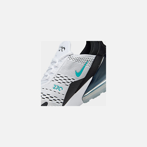 Front view of Men's Nike Air Max 270 Casual Shoes in Black/White/Dusty Cactus
