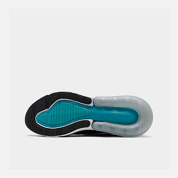 Bottom view of Men's Nike Air Max 270 Casual Shoes in Black/White/Dusty Cactus
