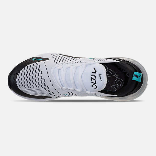 Top view of Men's Nike Air Max 270 Casual Shoes in Black/White/Dusty Cactus