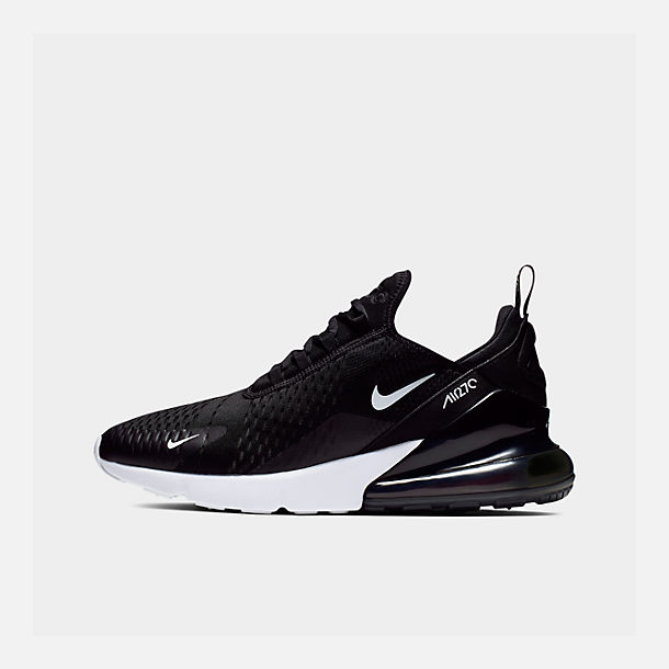 Right view of Men's Nike Air Max 270 Casual Shoes in Black/Anthracite/White/Solar Red
