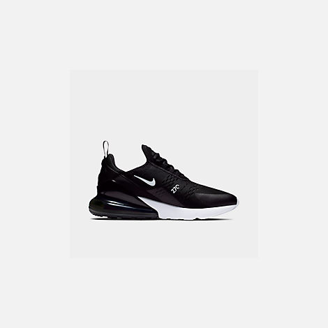 Front view of Men's Nike Air Max 270 Casual Shoes in Black/Anthracite/White/Solar Red