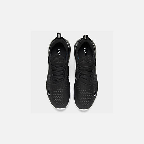 Back view of Men's Nike Air Max 270 Casual Shoes in Black/Anthracite/White/Solar Red