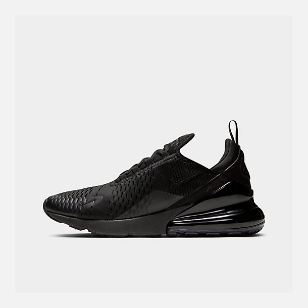 Right view of Men's Nike Air Max 270 Casual Shoes in Triple Black
