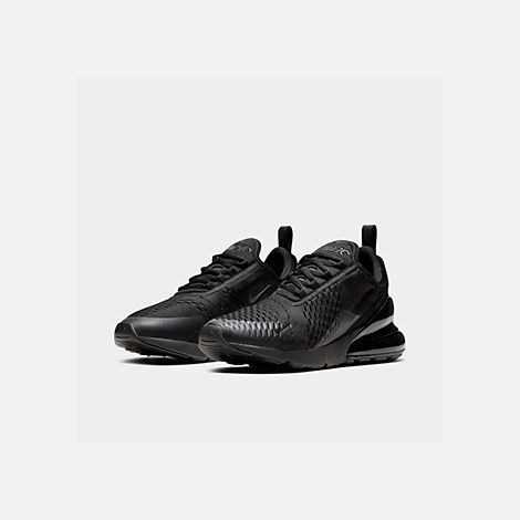 Three Quarter view of Men's Nike Air Max 270 Casual Shoes in Triple Black