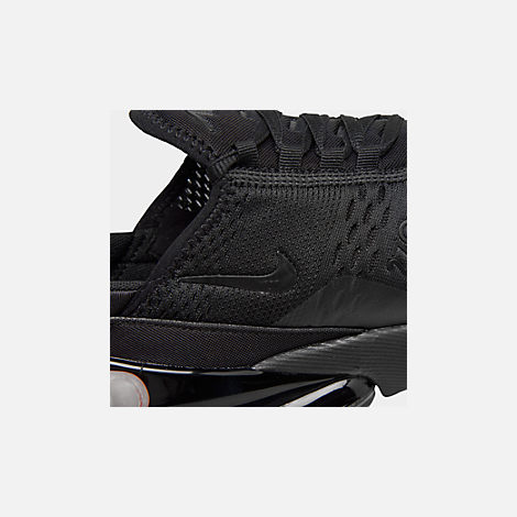 Front view of Men's Nike Air Max 270 Casual Shoes in Triple Black