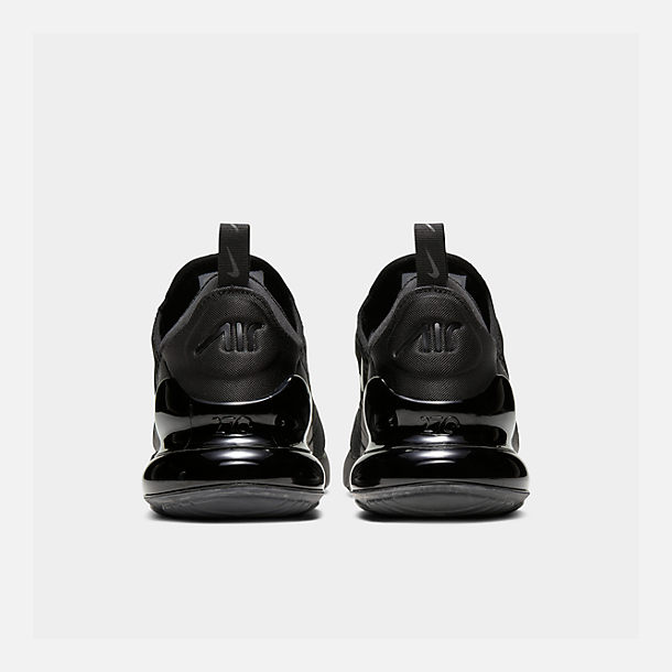 Left view of Men's Nike Air Max 270 Casual Shoes in Triple Black
