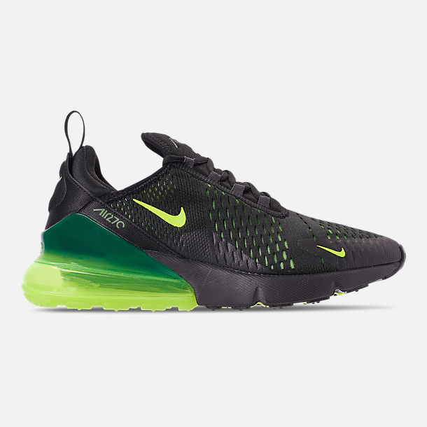 nike casual shoes ladies right view of mens nike air max 270 casual shoes in blackvoltoil shoes finish line