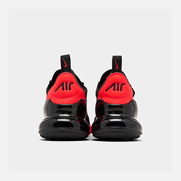 Left view of Men's Nike Air Max 270 Casual Shoes in Black/Metallic Silver/Bright Crimson