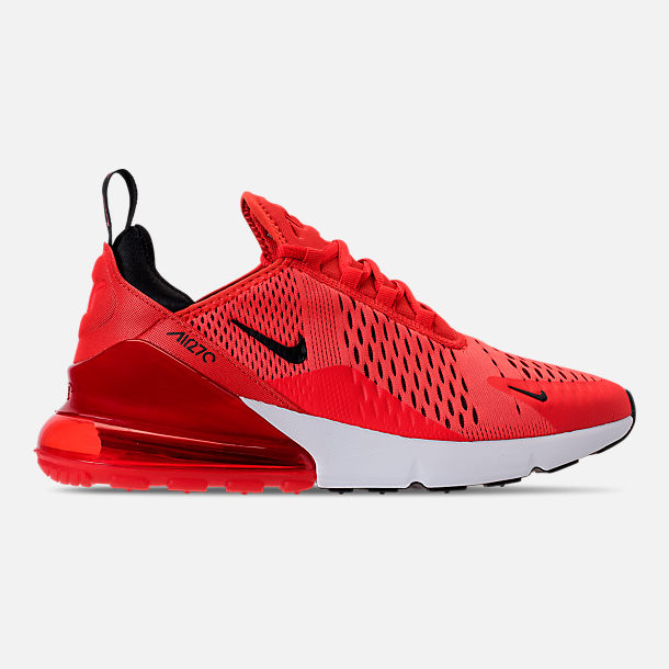Right view of Men's Nike Air Max 270 Casual Shoes in Habanero Red/Black/White