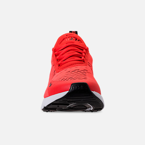 Front view of Men's Nike Air Max 270 Casual Shoes in Habanero Red/Black/White