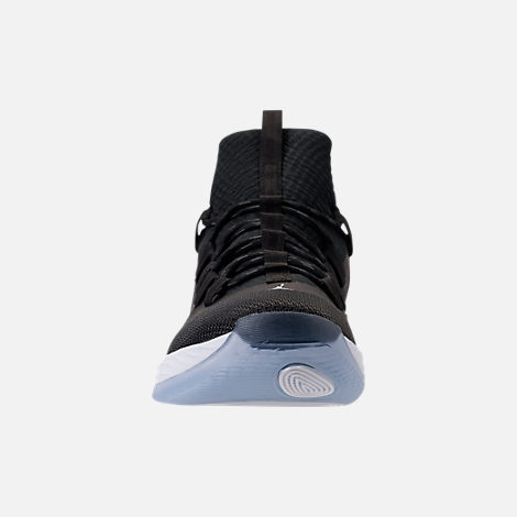 ccf746d20b2 ... spain front view of mens air jordan ultra fly 2 low basketball shoes in  black black