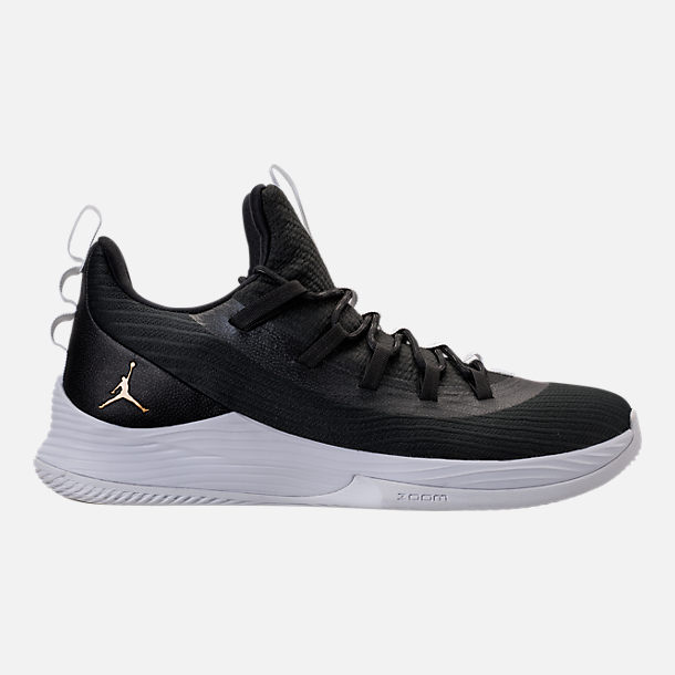 Mens Air Jordan Ultra Fly 2 Low Basketball Black/Metallic Gold/White AH8110 021