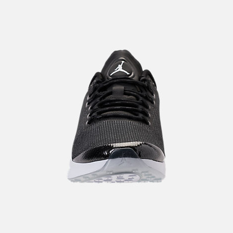 Front view of Men's Air Jordan Zoom Tenacity Running Shoes in Black/White/Black