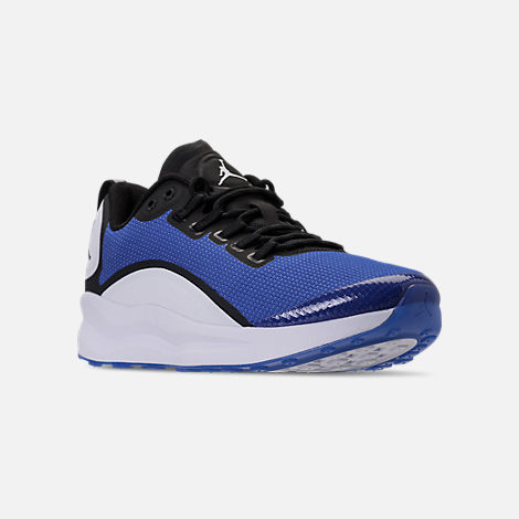 Three Quarter view of Men's Air Jordan Zoom Tenacity Running Shoes in Hyper Royal/Black/White