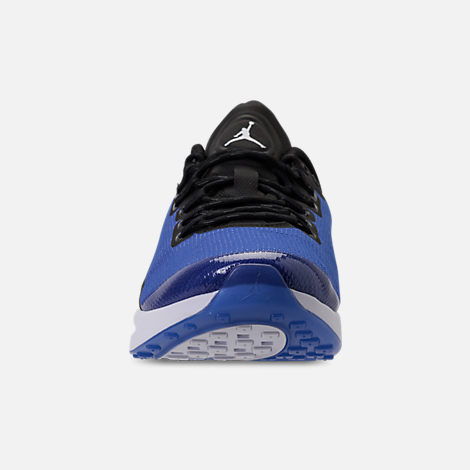 Front view of Men's Air Jordan Zoom Tenacity Running Shoes in Hyper Royal/Black/White