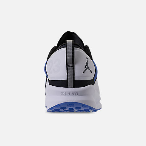 Back view of Men's Air Jordan Zoom Tenacity Running Shoes in Hyper Royal/Black/White