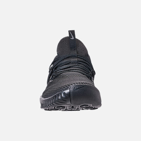 Front view of Men's Nike Free Metcon Training Shoes in Triple Black