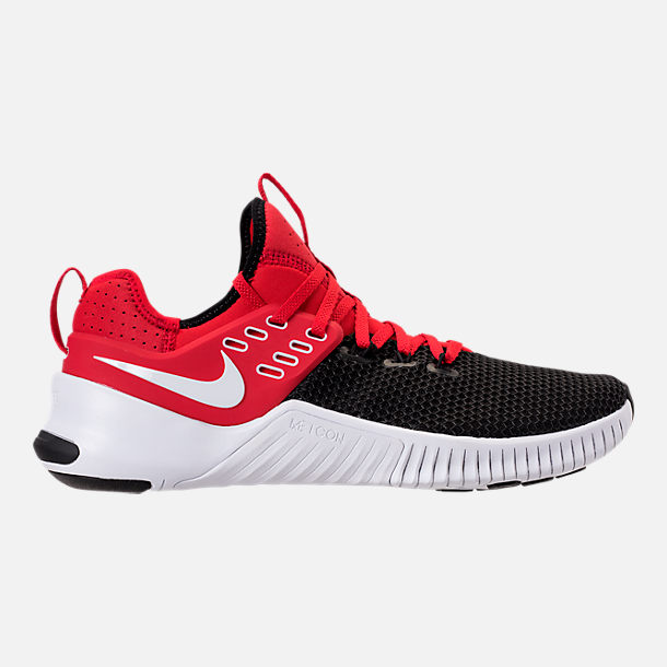 Right view of Men's Nike Free Metcon Training Shoes in University Red/White/Black
