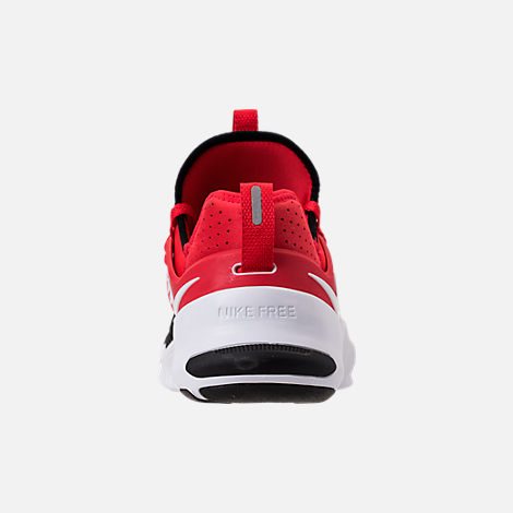 Back view of Men's Nike Free Metcon Training Shoes in University Red/White/Black