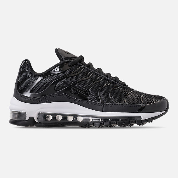 Right view of Boys' Big Kids' Nike Air Max 97 Plus Casual Shoes in Black/Anthracite/White