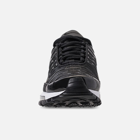 Front view of Boys' Big Kids' Nike Air Max 97 Plus Casual Shoes in Black/Anthracite/White