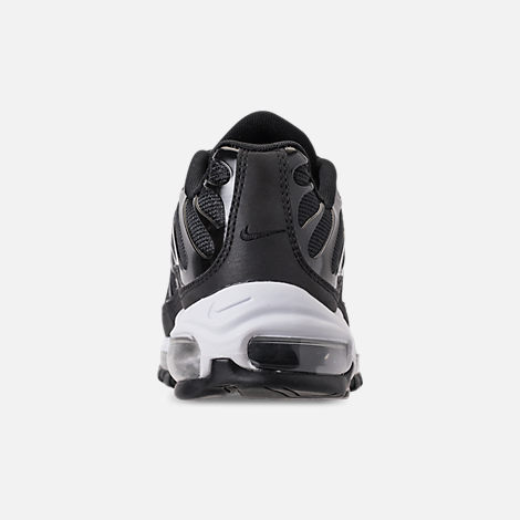 Back view of Boys' Big Kids' Nike Air Max 97 Plus Casual Shoes in Black/Anthracite/White