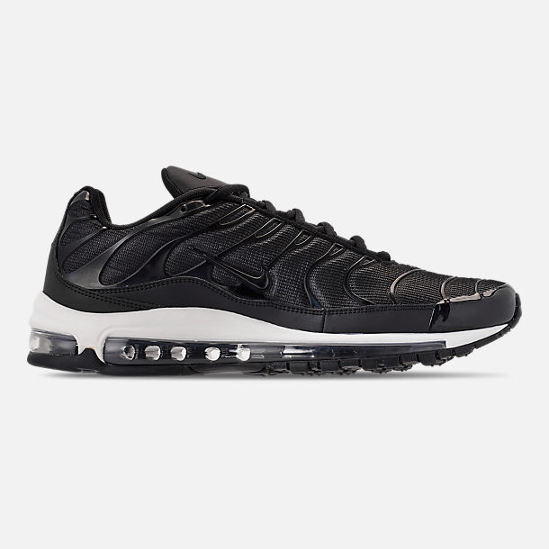 Right view of Men's Nike Air Max 97/Plus Casual Shoes in Black/Anthracite/White