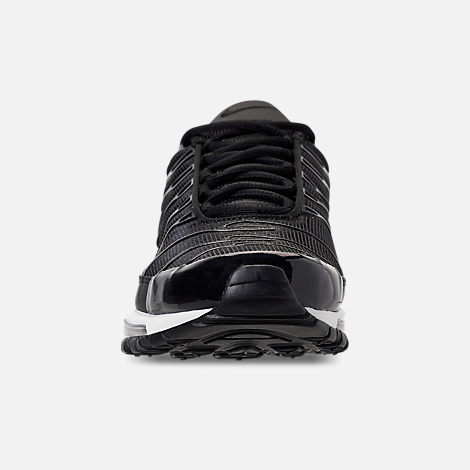 Front view of Men's Nike Air Max 97/Plus Casual Shoes in Black/Anthracite/White