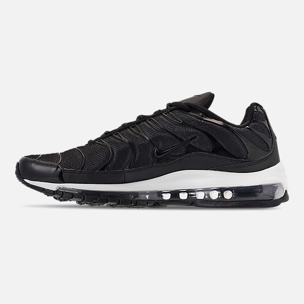 Left view of Men's Nike Air Max 97/Plus Casual Shoes in Black/Anthracite/White