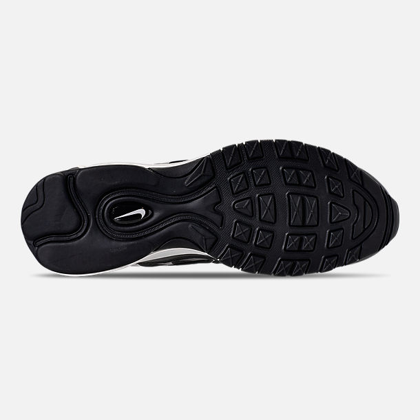 Bottom view of Men's Nike Air Max 97/Plus Casual Shoes in Black/Anthracite/White