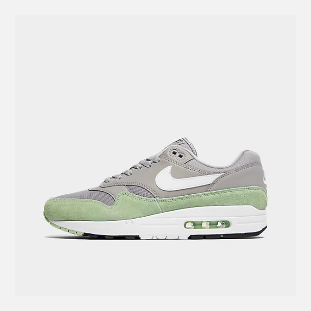 Right view of Men's Nike Air Max 1 Casual Shoes in Atmosphere Grey/White/Fresh Mint